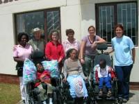 Kouna, Cami und Molli in ihren neuen Rollstuehlen!