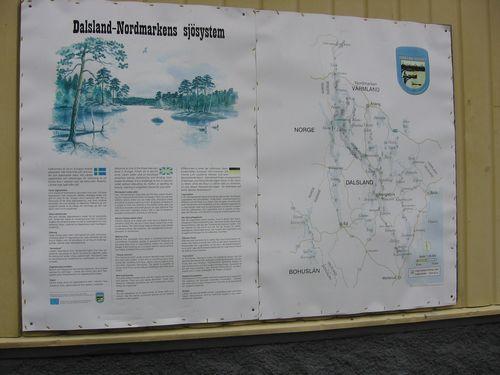 Die Karte mit den Holzhütten für Kanuten